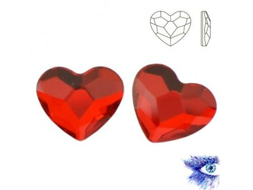Swarovski 2808 Heart Flat 10 mm Light Siam F