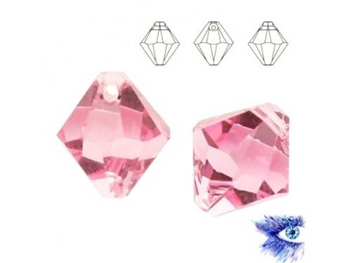 Swarovski 6328 XILION Bicone 6 mm Light Rose