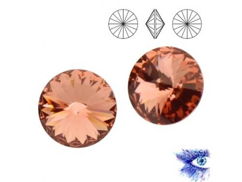 Swarovski 1122 Rivoli 12 mm Blush Rose F